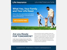 previous next instant life insurance quote ppv landing page design