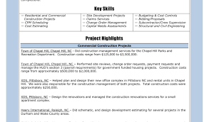 Objective For Construction Resume Project Manager Line Vozmitut