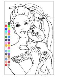 Small Picture Free Barbie Coloring Pages For Girls Barbie Online Coloring