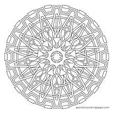 Printable Mandala Meditation Coloring Pages Printable