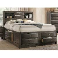 king storage bed. Contemporary Gray King Size Storage Bed - Emily