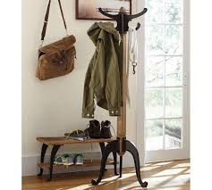 Pottery Barn Tree Coat Rack Metal and Wood Coat Rack 4