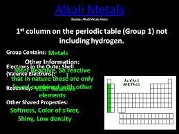 Periodic Table Families - ppt video online download