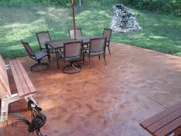 Concrete Stain Stamped Patio