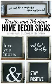 Small Picture Rustic and Modern Home Decor Signs Giveaway
