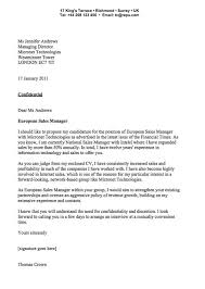 Cover Letter Examples Sample Cover Letter For Sales Manager Peg