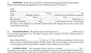 Real Estate Purchase And Sale Agreement With Earnest Money Provision ...
