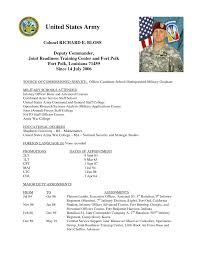 Army Resume Examples