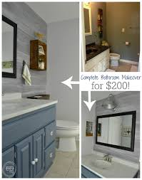 complete bathroom remodel. Complete Bathroom Makeover For $200 | Budget Remodel Vintage Rustic Industrial Modern