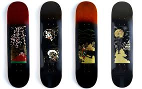 Skateboards Designs Get Noticed On Handmade Urushi Lacquer Skateboards In