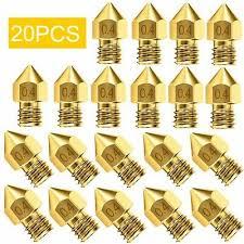 <b>20x 3D Printer Nozzle</b> Accessory Brass MK8 0.4mm For CR 10 For ...