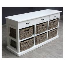 ... Storage 11438 AFW Fanciful Shelves With Baskets Perfect Ideas Wooden  PARIS Wood Wicker 3 Drawers 6 ...