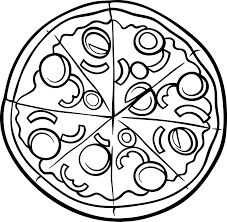 Small Picture Coloring Pizza Coloring Pages