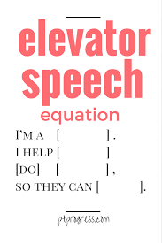 what is your second elevator speech