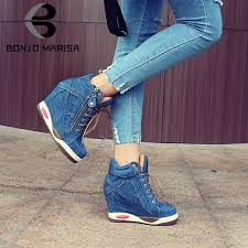 Pin by Avis Hoults on bulldogskicks | Womens shoes wedges, Sneakers  fashion, Denim shoes
