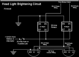ford diagrams headlight wiring upgrade use halogen lights your old wiring harness figure a typical headlight wiring diagram