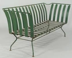 deco garden furniture. Lot 589: French Art Deco Patio Furniture: Settee Garden Furniture R