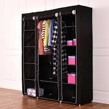aliyah w portable closet storage organizer clothes wardrobe shoe rack with shelves 53 grey