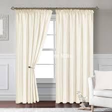 lynton cream pencil pleat curtains