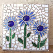 stained glass mosaic wall art flower wall hanging daisy