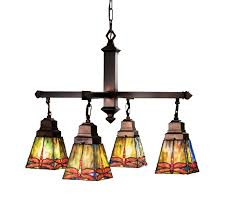 Arts And Crafts Mission Style Lighting Meyda 48035 Prairie Dragonfly Four Light Chandelier