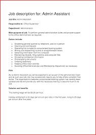 Fresh Administrative Assistant Job Description Samples Npfg Online