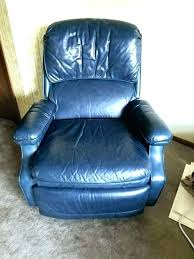 navy blue leather reclining sofa recliner chair dark in light rec glamorous navy blue leather recliner