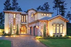 Mediterranean House Plans   Houseplans comSignature Mediterranean Exterior   Front Elevation Plan       Houseplans com