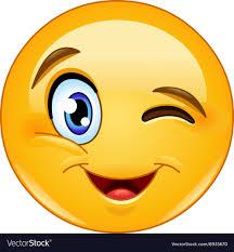 Winking Face Emoticon Royalty Free Vector Image