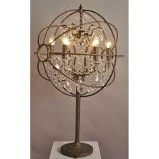 rococo orb table lamp