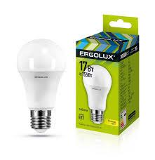 <b>Лампочка Ergolux</b> LED-A60-<b>17W</b>-<b>E27</b>-3K, Теплый свет 17 Вт ...
