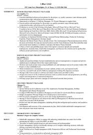 Wonderful It Infrastructure Project Manager Resume Images Entry