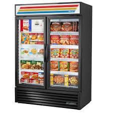 49 cu ft glass door merchandiser freezer w hydrocarbon refrigerant and led lighting