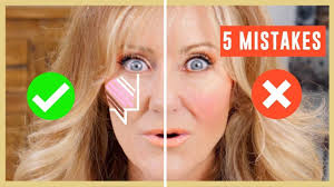5 biggest makeup mistakes on face tutorial over 50 contouring highlighting blush you
