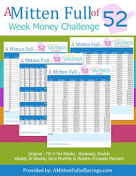 The 52 Week Money Saving Challenge Printables To Stay On