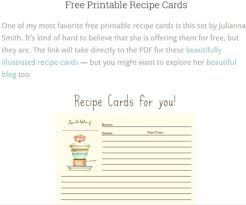5 Website With Free Printable Recipe Pages