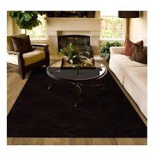 new mocha 5 x 7 area rug living room stain resistant carpet modern home
