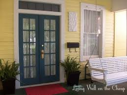 french front doorsFront Door Curtains  Living Well on the Cheap