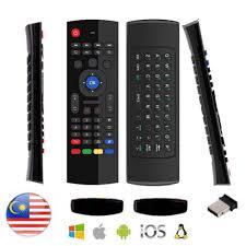 ANDROID NETFLIX Bộ Điều Khiển Bàn Phím Không Dây Mx3 2.4g Cho Tv Box X96  Mini S905W Tx3 Tvbox