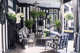Black and white patio furniture Covered Porch Black And White Patio Decorpad Black And White Patio Contemporary Deckpatio Ralph Lauren