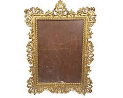 antique picture frames. Vintage Cast Iron Gold Picture Frame Large 13\ Antique Frames