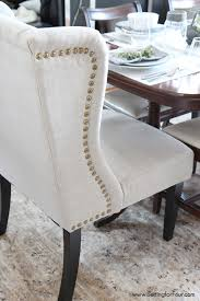 wonderful comely tufted dining chairs with nailheads extraordinary pertaining to wonderful high wingback dining chair