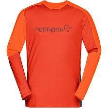 <b>Футболка</b> мужская <b>Norrona Equaliser Merino</b> Round Neck Rooibos ...