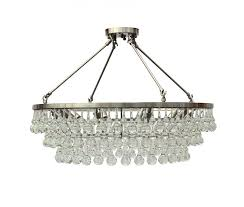celeste flush mount glass drop crystal chandelier