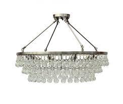 celeste flush mount glass drop crystal chandelier brushed nickel