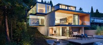 modern house. Brilliant House Modern House With Glass Wall To House