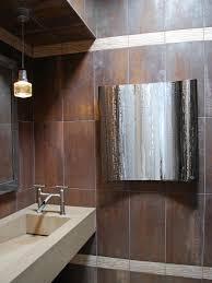 Brown Tiles Bathroom Contemporary Stone Guest Bathroom Andrea Wachs Hgtv