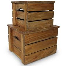 Mgaxyff <b>Storage Crate Set 2</b> Pieces Solid Reclaimed Wood ...