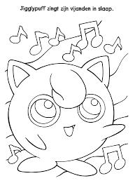 Pokemon Paradijs Kleurplaat Jigglypuff Zingt Zijn Vijanden In Slaap