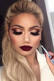 33 best winter makeup looks for the holiday season red eyeshadow makeupgold and brown eye